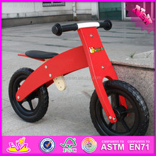 2016 wholesale cheap red kids wooden balance bicycle prices W16C143