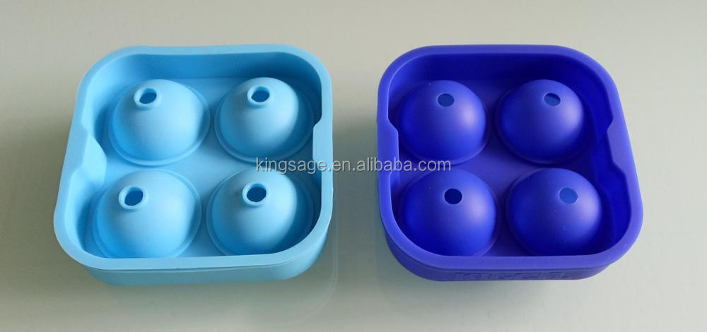 4.5CM large custom silicone ice ball tray mold for beer or whisky