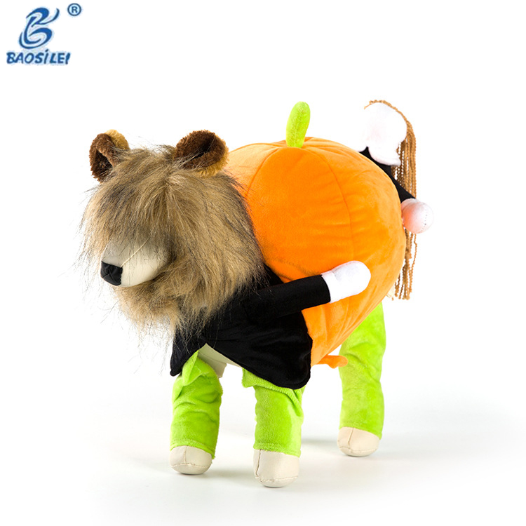 Funny Design Winter Cotton Dogs Move Pumpkins Pet Dog Dress Clothes