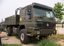 HOWO Right Steering Diesel 4x4 Military Cargo Truck