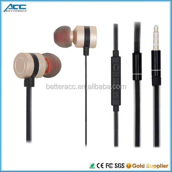 2016 Fashion colorful Metal Head Earphone for Music With phone calling Function