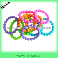 Hot New! Custom Colorful Silicone Bead Bracelet