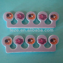 FZQ-007 9Cm Single fashional patterm rubber for toe separators