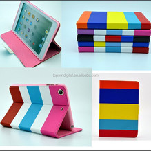 newest design flip cover for ipad mini 2 leather smart case