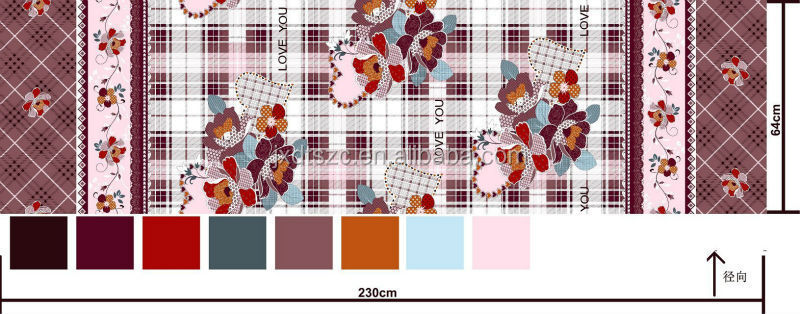 100% polyester bed sheets fabrics printed and brushed for home textile
