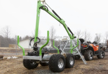 High Quality 2.5 ton ATV Log Trailer with Crane