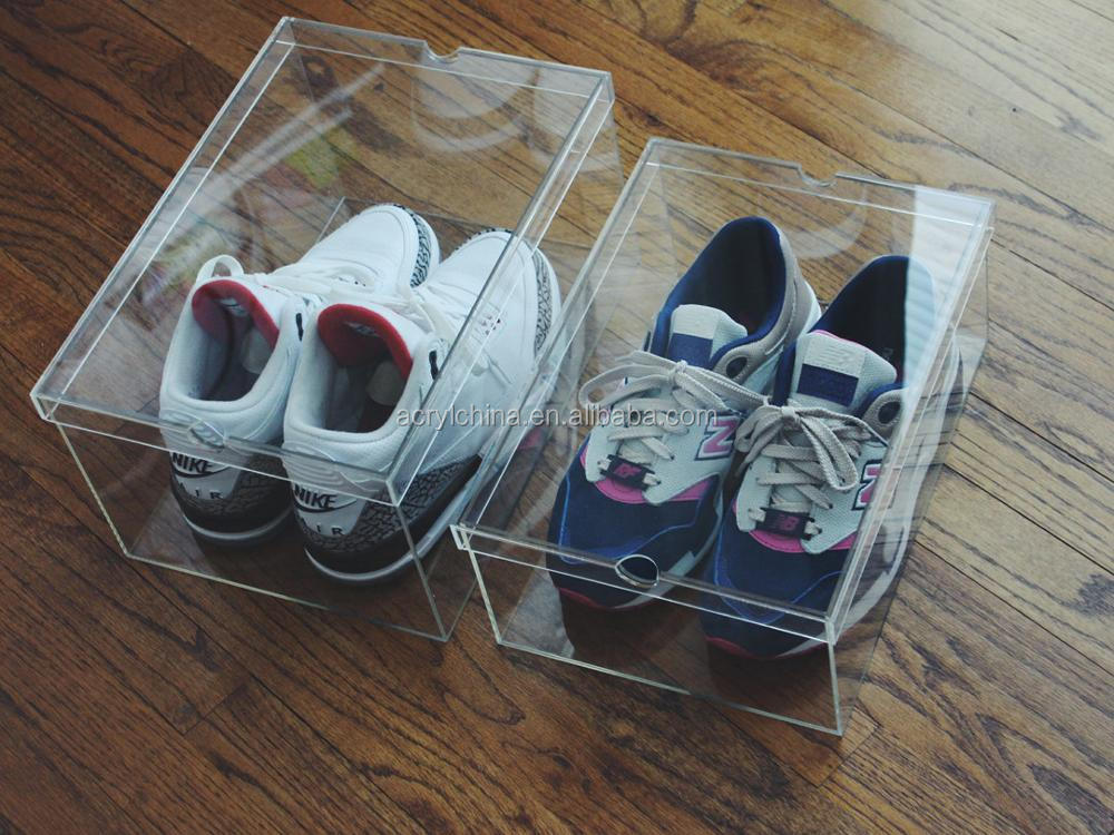 2015 China Professional Export Clear Acrylic Shoe Display Boxes (2).jpg