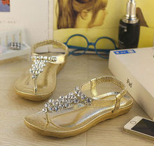 D34511A 2014 SUMMER NEWEST FASHION BOHEMIA ROMAN STYLE LADIES FLAT SANDALS