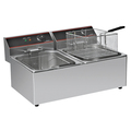 Cosbao Double Tank Stainless Steel Commercial Counter Top Electric Fryer