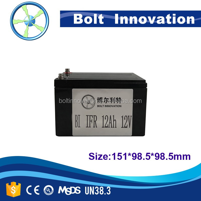 Factory price Lifepo4 12v 12ah battery / 12 volt 12ah rechargeable battery