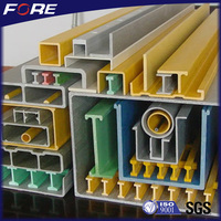 High impact Fiber Glass Reinforced Polymer GRP / FRP construction rod,clear fiberglass rod for sale