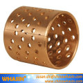 Bronze Material For Thrust Washer Flanged Cylindrical Sleeve Bushing Copper Brass Bush Wrapped Bronze Bearing