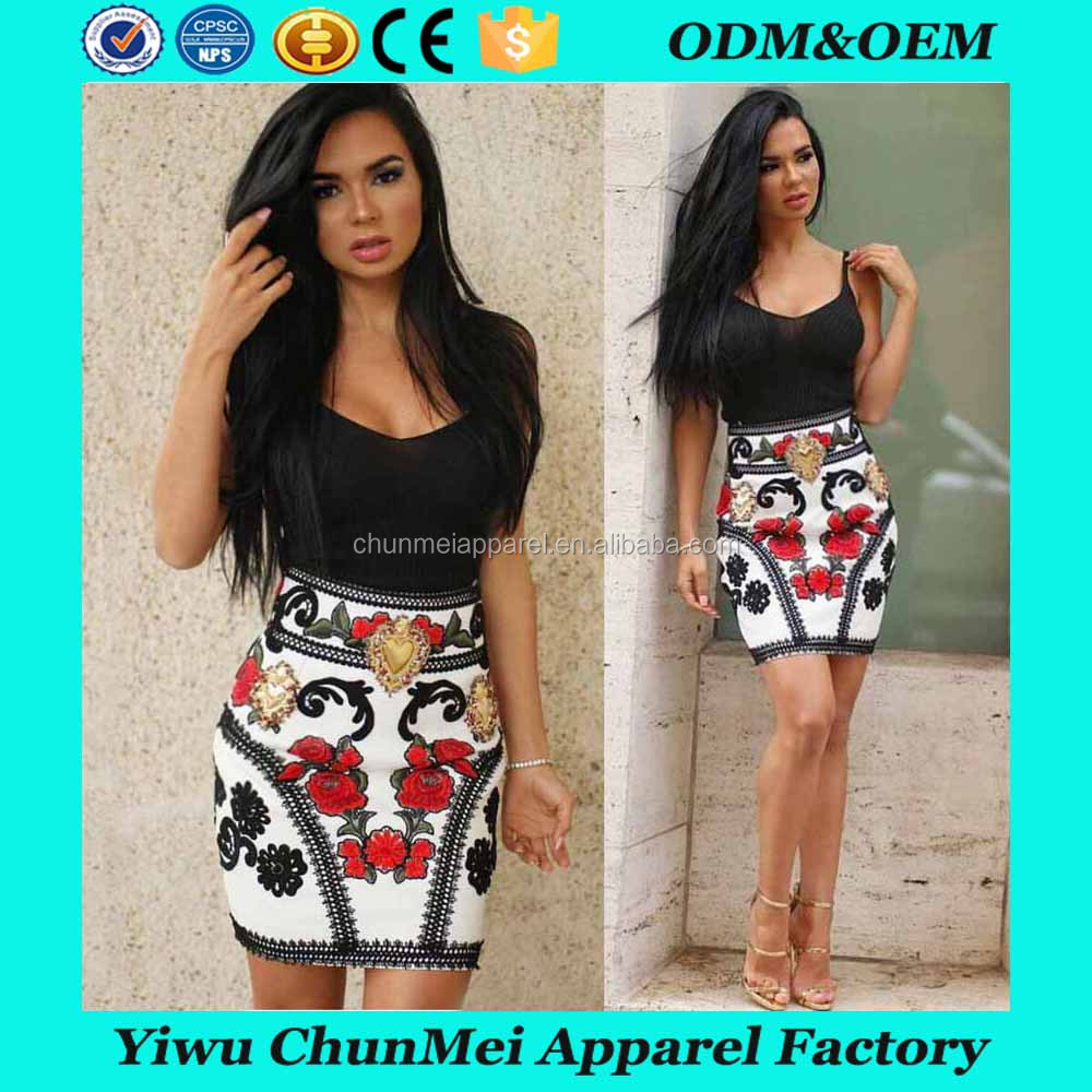 European new fashion young girls' sexy floral printed wrapped hip strapless halter bandage dress