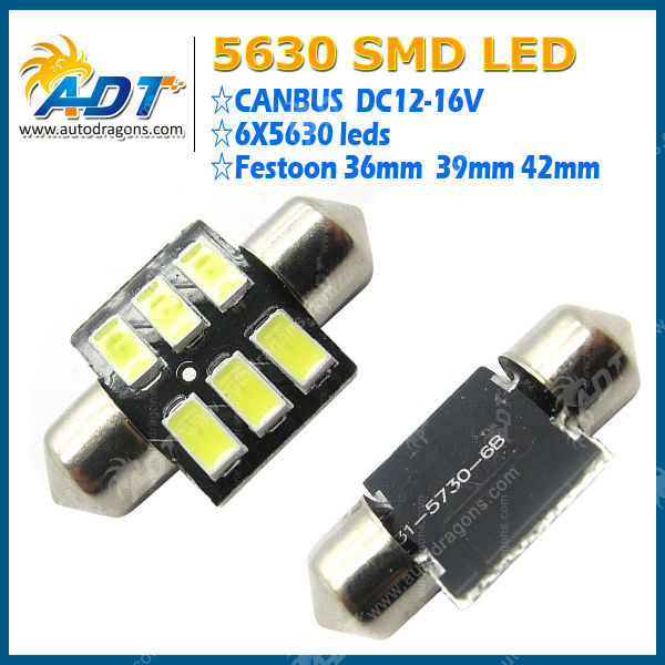 High quality 5630 6leds dome Lamp for vw golf 7 accessories