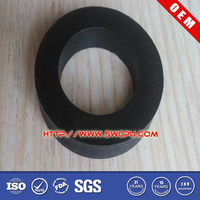 Black 2 mm diameter neoprene washer
