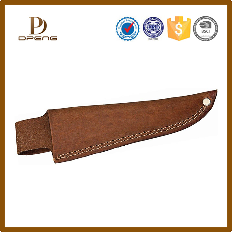 2017 New arrivel custom genuine leather Pocket knife sheath pouch case