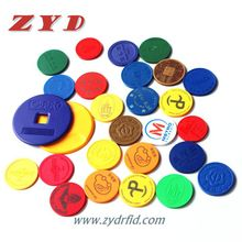 Passive token subway currency RFID coin tag