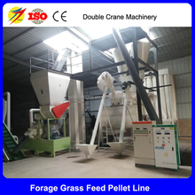 Alfalfa grass cow feed making machine, cow food pellet machine product line
