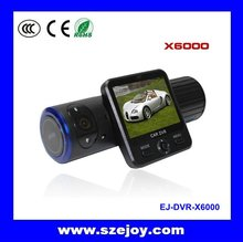 Multiple Language digital car black box External GPS + Dual camera +G-sensor X6000 Carcam