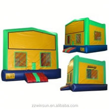 Inflatable Green and Yellow Bounce House with Changeable Banner