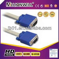 premium vga cable male to female VGA splitter cable for CRT/LCD monitor and TV