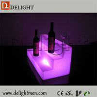 Low price Lighting up RGB color changing battery power led glowing display shelf