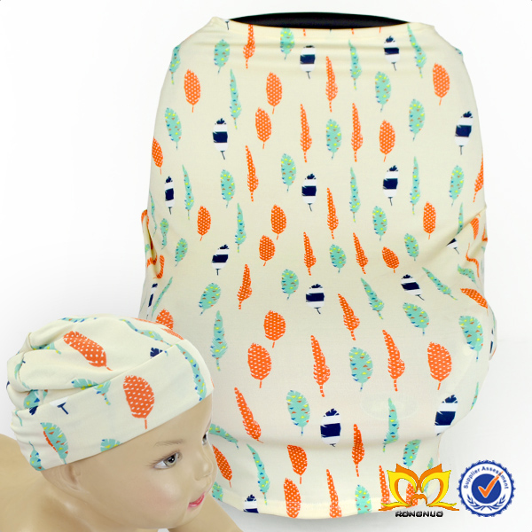 Stretchy Fabric Car Seat Canopy Infant Nursing Covers Baby Car Seat Cover