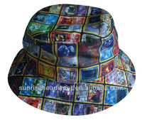 Custom high quality sublimation bucket hat
