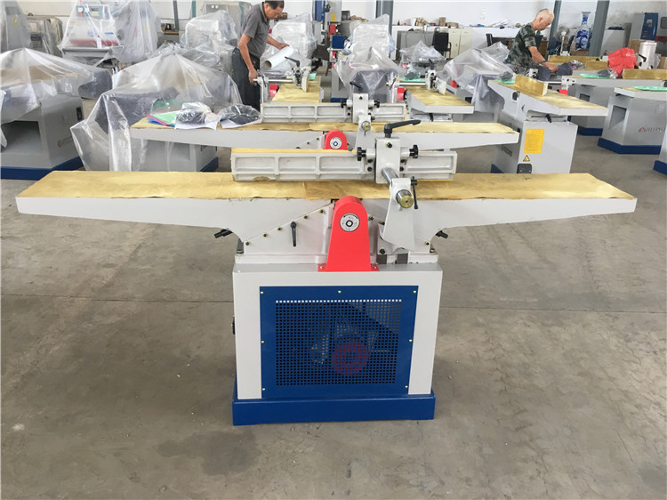 High speed auto wood surface planer with double cutter head