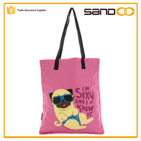 New fashion funny women's bag, sexy dog printed shopping handbags wholesale 2016