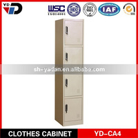 High quality modern furniture four door steel wardrobes bedroom / clothes cabinet