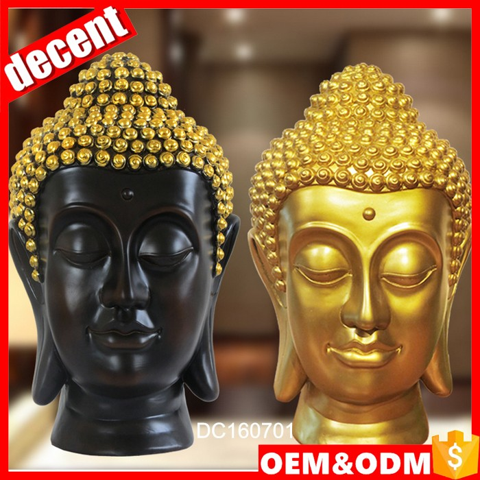 Garden decoration polyresin buddha head