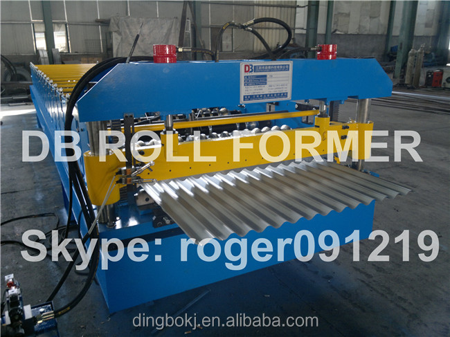 Color steel roofing sheets roll forming machine to Algeria