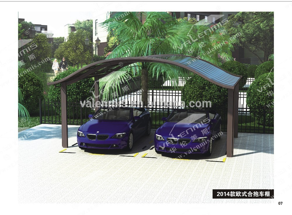 aluminium carport auvent en polycarbonate garage toit et. Black Bedroom Furniture Sets. Home Design Ideas