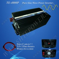 DC 12V 24V 48V to AC 110V 220V 230V Solar and Wind System 4000W Off Grid Inverter Pure Sine Wave
