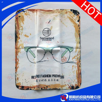 simple hot transfer printed lens microfiber clean cloth customize brand logo