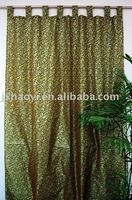 flocked taffeta window curtains