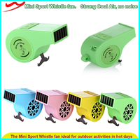 Whistle mini fan/ Strong windy 5v low voltage outdoor travel hand held mini personalized cooler fan