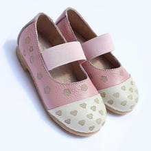 Spring New Girls Cute Floral Brand Ladies Pu Flat Shoes Closed Toe Flat Shoes Girls