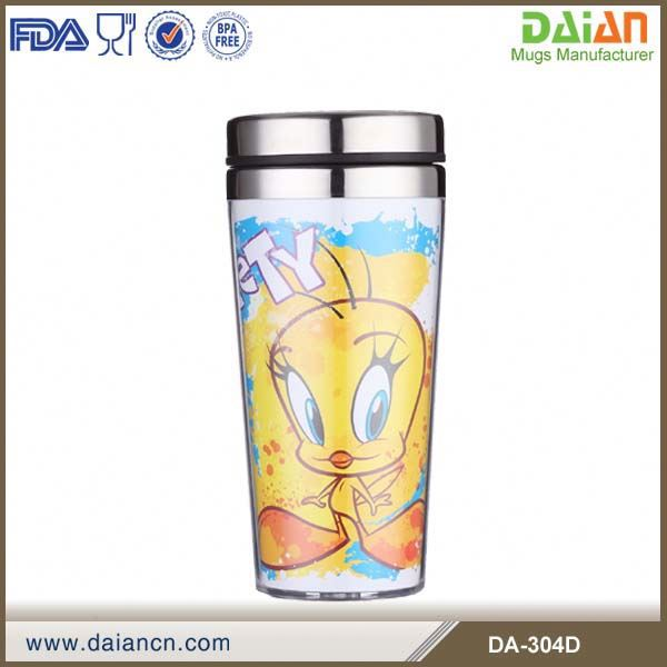Hot Sale 450ml photo insert travel thermos mug