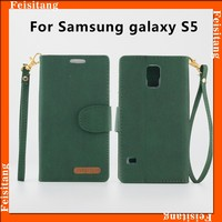 mobile phone accessory flip leather case cover for samsung Galaxy s5