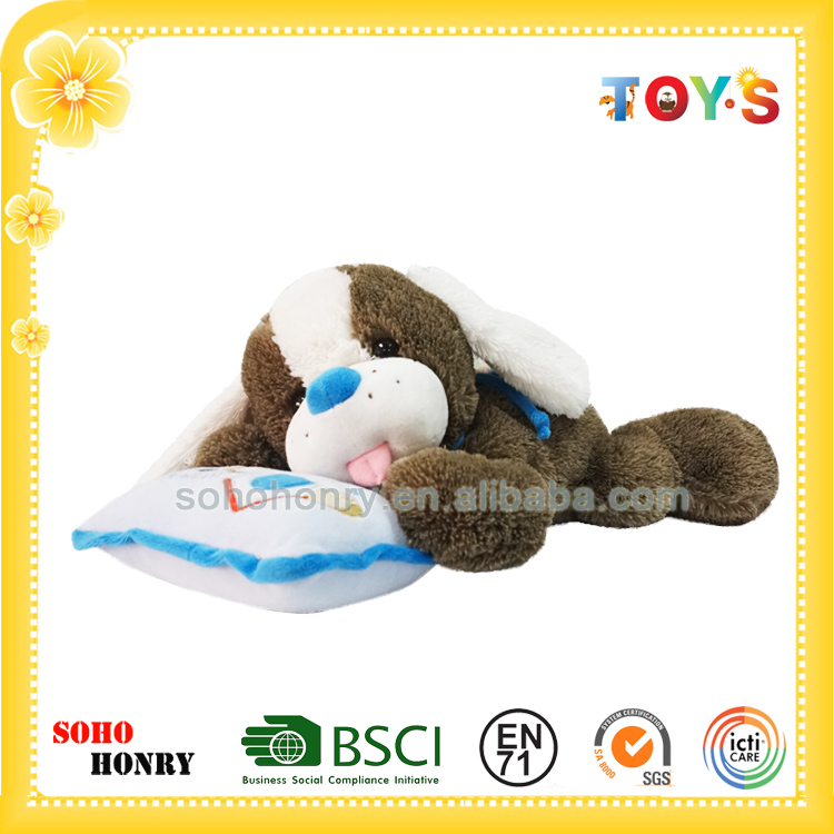 High quality stuffed plush sleeping dog toy of little buddy series