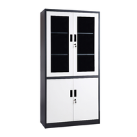Asia style sliding glass door steel filing cabinet