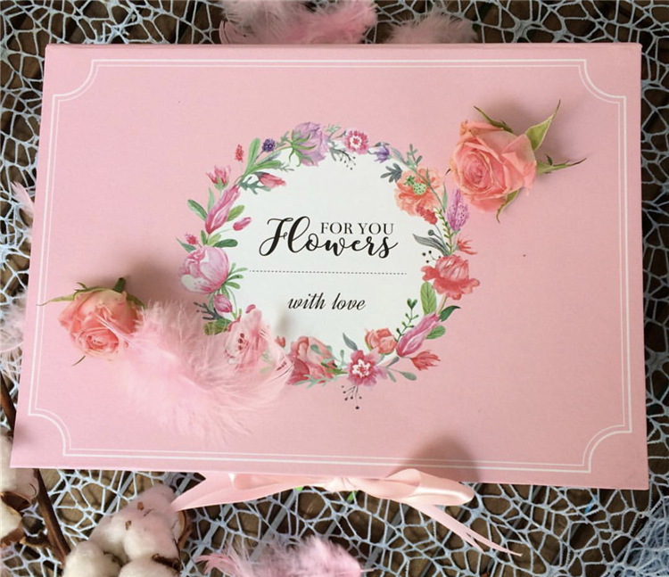 (In Stock) Florist high end luxury square flower lid base festival gift box with ribbon