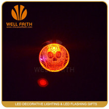 Led Flashing Halloween Products ,Best-selling in halloween Skull shaped Badge Pin