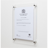 Clear A4 Acrylic Certificate Frame, Wall Mount A5 Acrylic Photo Frames