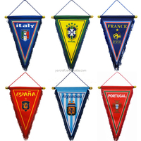 Diy triangle team pennant sports fag custom or stock