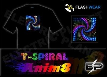 [Super Deal]Wholesale 2009 fashion hot sale T-shirt A29,el t-shirt,led t-shirt