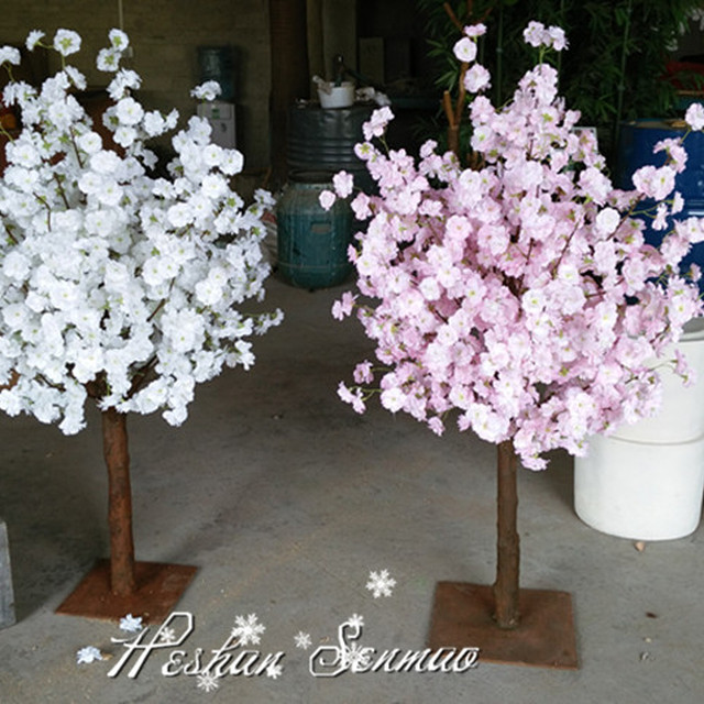 Hot new product Artificial cherry blossom tree plants wedding table tree centerpieces for decoration with factory pric