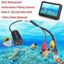 "5"" LCD HD Swimming Pool underwater Inspection Camera System(20m Waterproof, 8 LED/IR lights,motion detection, loop record)"